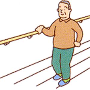 廊下・階段などに手すりをつければ安心。