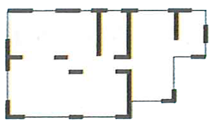 耐震補強後の間取り図