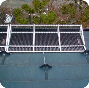 カラーベスト屋根に取付けた場合。
