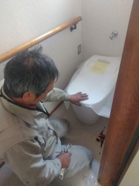岡谷市本町 小林邸 トイレ交換 和→洋