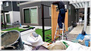 庭廻りフェンス工事