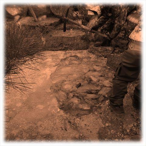 庭池埋め戻し